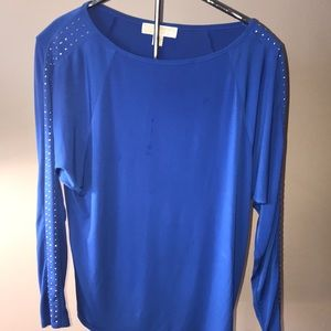 MICHAEL Michael Kors Blue Blouse Small